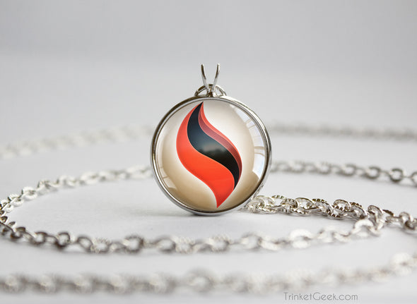 Pokemon Blaziken Blazikenite Mega Stone Pendant Necklace