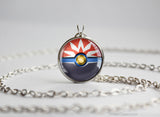 Pokemon Braviary Themed Pokeball Pendant