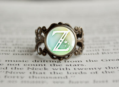 Zelda BOTW Z Symbol Breath of the Wild antique style BRONZE Ring