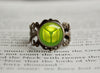 Bug Type Pokemon Symbol antique bronze ring\