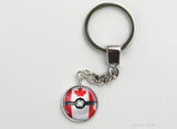 Canadian Flag themed Pokeball Key Chains