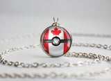 Canada Pokemon Flag pokeball necklace
