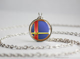 Super Smash Ball Captain Falcon necklace