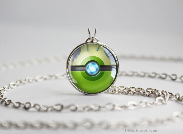 Pokemon Celebi Themed Pokeball Pendant