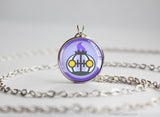 Chandelure Pokemon Chibi Portrait necklace