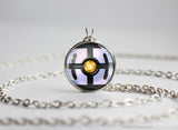 Pokemon Chandelure Themed Pokeball Pendant