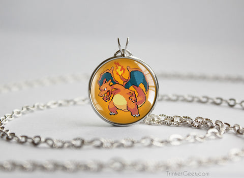 Pokemon necklace charizard sprite