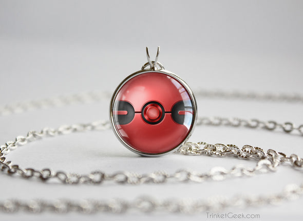 Pokemon Pokeball Cherish Ball Necklace Pendant