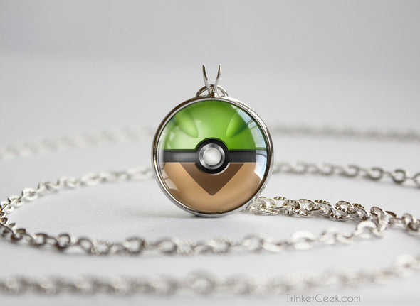 Chespin Pokemon Kalos Starter Themed Pokeball pendant