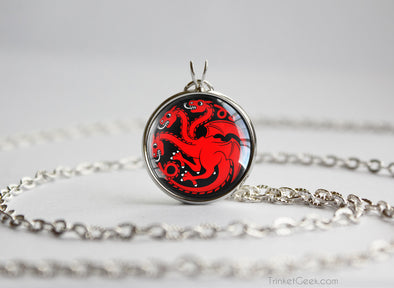 Game of Thrones Chibi Targaryen necklace