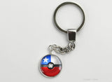 Chile Flag themed Pokeball Key Chains