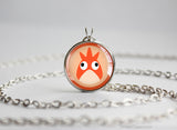 Corphish Pokemon Chibi Portrait necklace