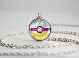 Pokemon Cresselia Pokeball Pendant Necklace