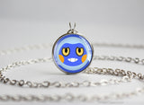 Croagunk Pokemon Chibi Portrait necklace
