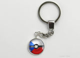 Czech Flag themed Pokeball Key Chains