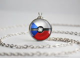 Czech Pokemon Flag pokeball necklace