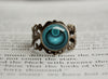 Dark Type Pokemon Symbol antique bronze ring