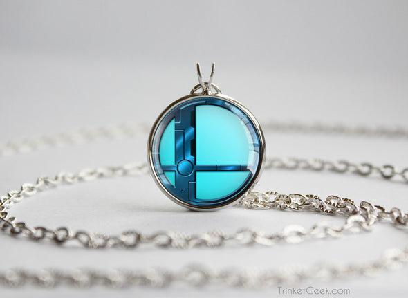 Dark Samus Smash Ball necklace