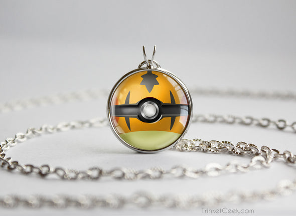 Pokemon Dedenne Themed Pokeball Pendant