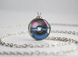Pokemon Deino Pokeball Pendant Necklace