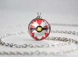 Pokemon Delibird Themed Pokeball Pendant