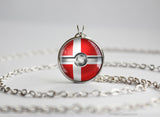 Denmark Pokemon Flag pokeball necklace
