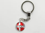 Denmark Flag themed Pokeball Key Chains