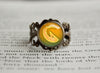 Dragon Type Pokemon Symbol antique bronze ring
