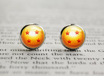 DBZ earrings Four Star Dragon Ball