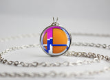 Super Smash Ball Duck Hunt Duo necklace