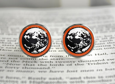 Earth bound mother cufflinks planet symbol