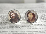 Ecce Homo cufflinks Hairy monkey meme
