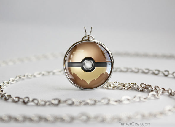 Pokemon Eevee Eeveelution Pokeball Pendant Necklace