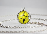 Electric Type Pokemon Necklace Themed Pokeball pendants