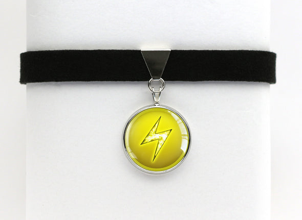 Electric Type Symbol Pokemon Choker Necklaces