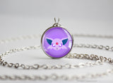 Espeon Pokemon Eeveelution Chibi Portrait necklace