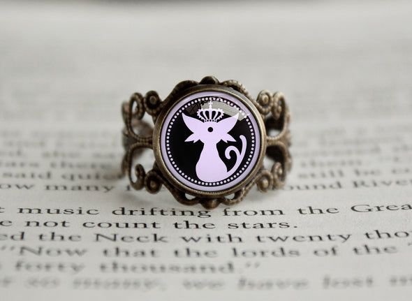 Pkmn Funtomon Logo antique style BRONZE Ring