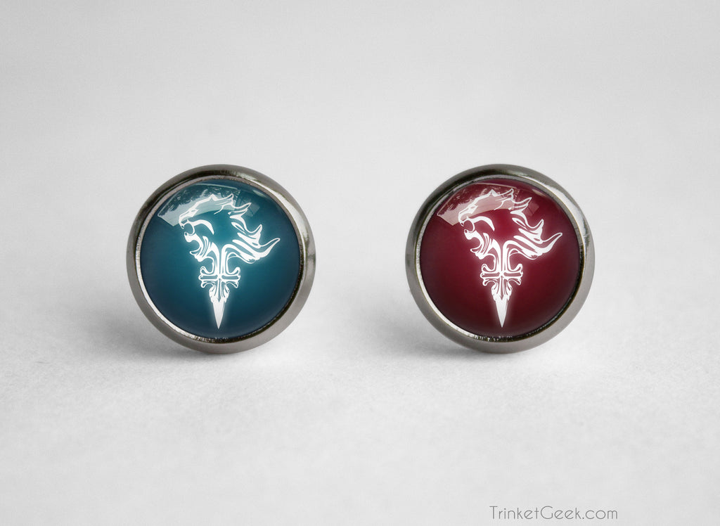 FFVIII Griever earrings Squall lion emblem