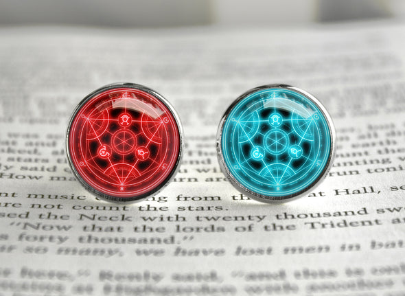 Full Metal Alchemist cufflinks FMA Transmutation circle