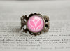 Fairy Type Pokemon Symbol antique bronze ring