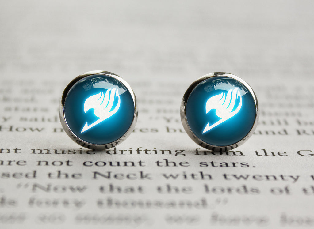 Fairy Tail glowing guild emblem Earrings