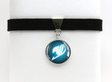 Fairy Tail Choker Necklace glowing guild emblem