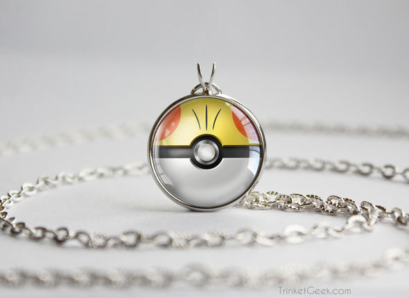 Fennekin Pokemon Kalos Starter Themed Pokeball pendant