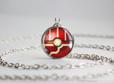 Fighting Type Pokemon Necklace Themed Pokeball pendant