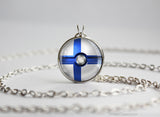 Finland Pokemon Flag pokeball necklace
