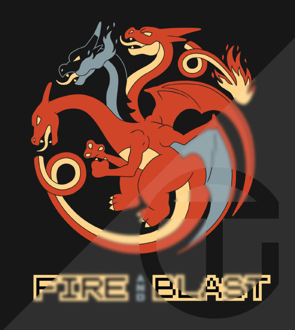 ThroneMonsters Pokemon Game of Thrones House Targaryen Charizard T-Shirt
