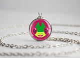 Flygon Pokemon Chibi Portrait necklace