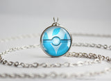 Flying Type Pokemon Necklace Themed Pokeball pendants