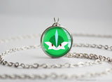 Gallade Pokemon Chibi Portrait necklace