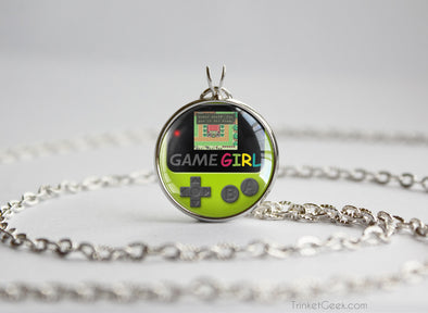 GameGirl pendant Gameboy Color Kiwi light green